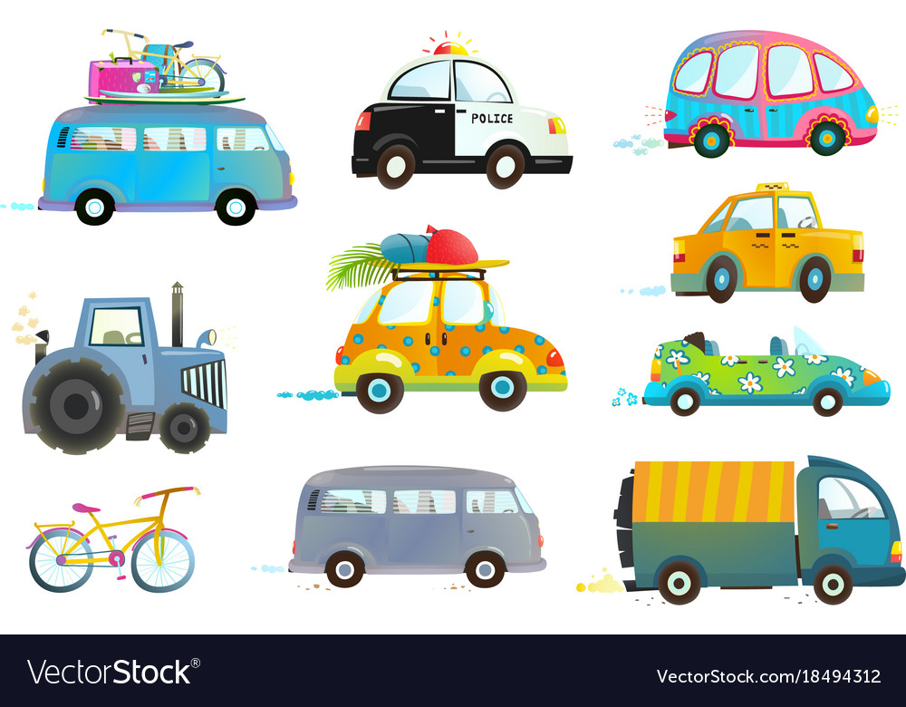 Cycling clipart car bike. Bus taxi police truck banner