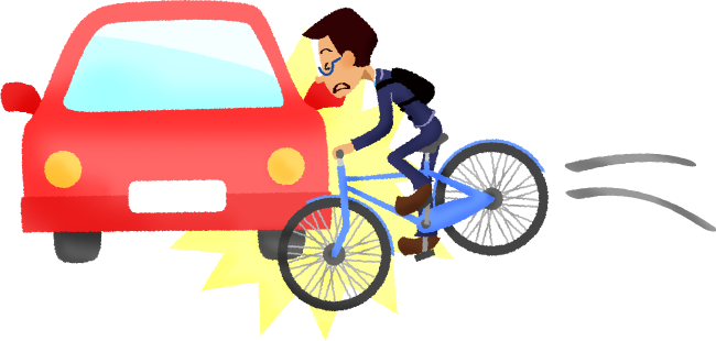Collision free illustrations illustorium. Cycling clipart car bike jpg freeuse download