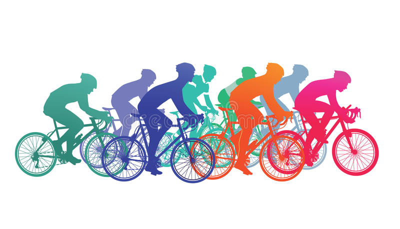 Cyclists in bike race. Cycling clipart cycling competition png stock
