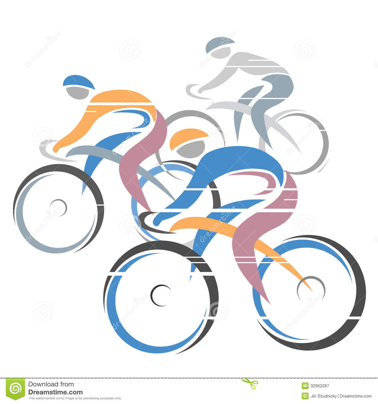 Cycle race stock vector. Cycling clipart cycling competition vector royalty free library