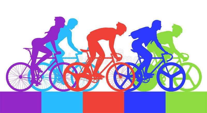 Cyclist in the bicycle. Cycling clipart cycling competition banner freeuse