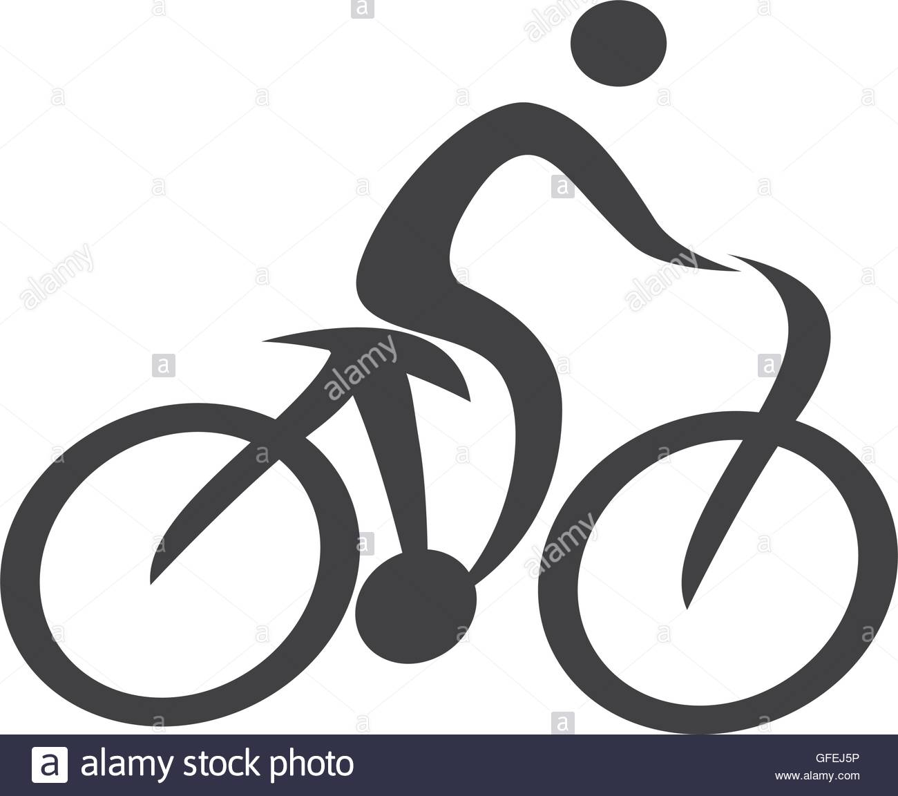 Cycling clipart human silhouette. Figure bicycle icon stock png royalty free library