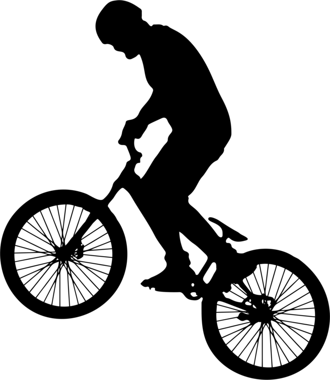 Bicycle bmx bike silhouette. Cycling clipart man svg royalty free