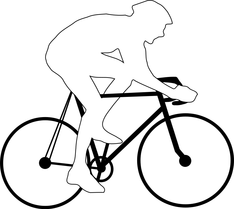 Cycling clipart human silhouette. Free cyclist picture download