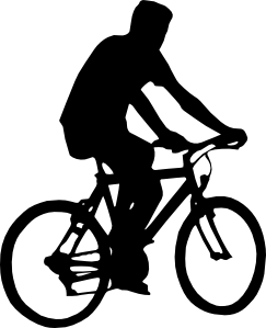 Bicyclist clip art at. Cycling clipart human silhouette graphic library library