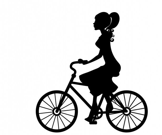 Cycling clipart human silhouette. Cyclist at getdrawings com clip art black and white stock