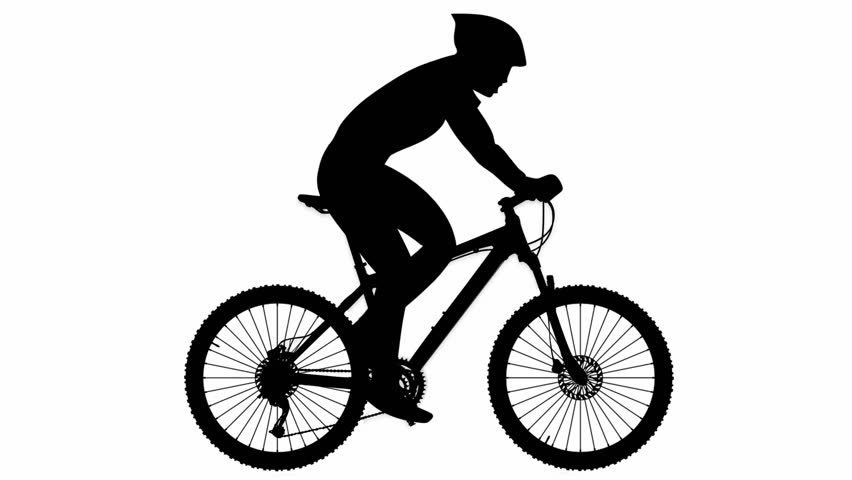Stock video of mountain. Cycling clipart human silhouette picture free download