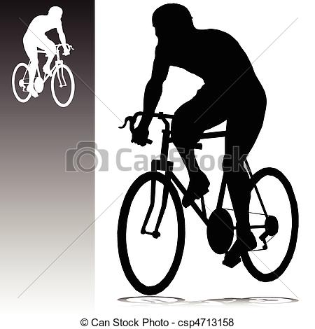 Man vector silhouettes. Cycling clipart human silhouette image transparent library