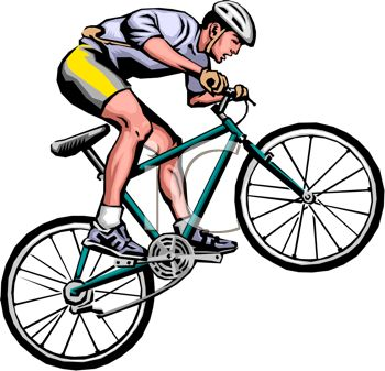 Clip art image of. Cycling clipart man jpg freeuse library