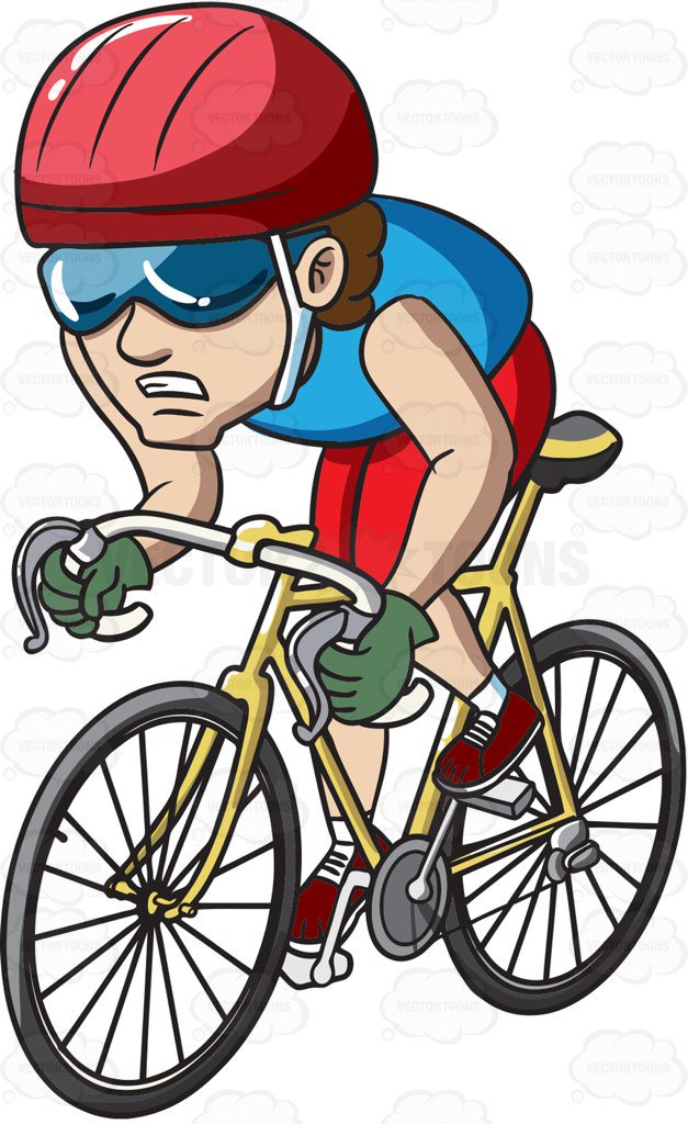 Cycling clipart man. A in competition cartoon banner transparent