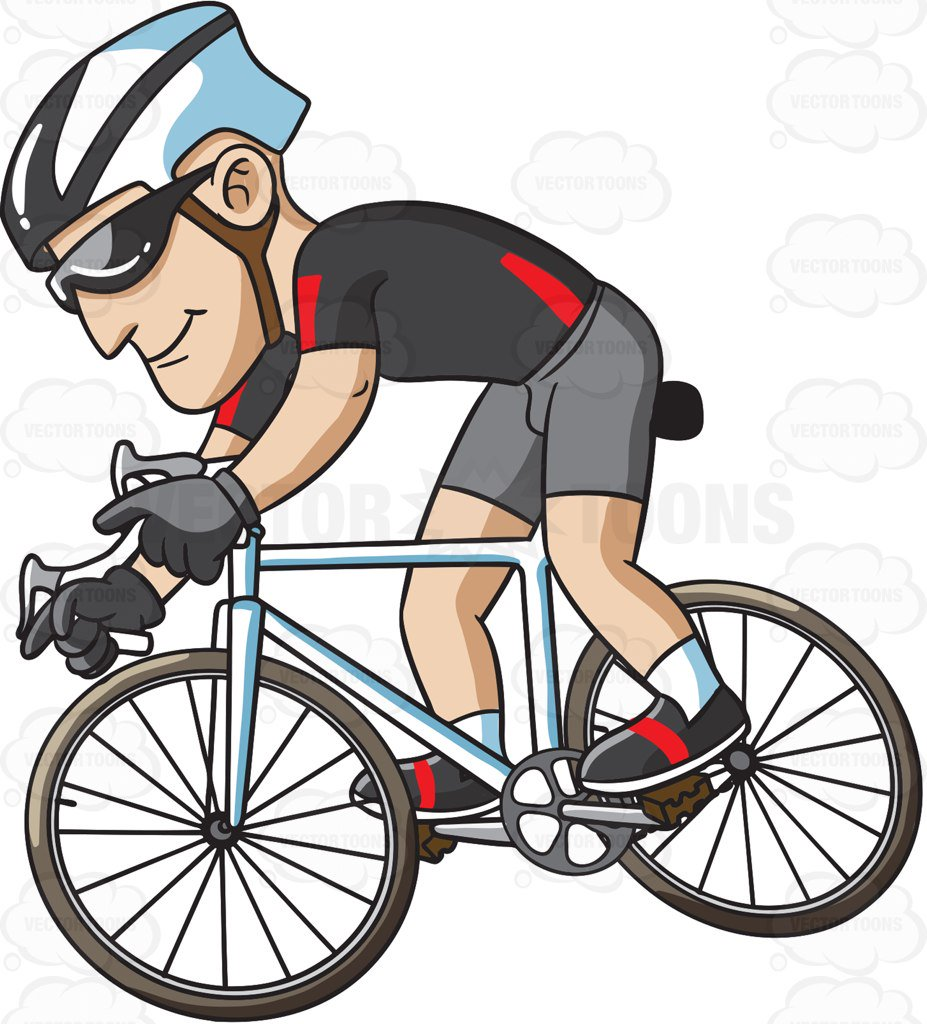 Cycling clipart man. A riding bike for graphic royalty free download