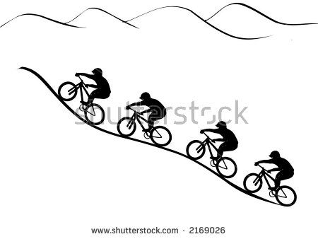 Vector graphics illustration riders. Cycling clipart mountain bike clipart library download