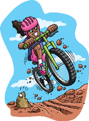 Cycling clipart mountain bike. Bikes and bicycles girl
