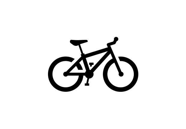 Cycling clipart mountain bike. Royalty free vector icon vector stock