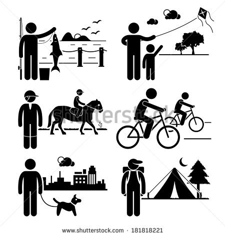 Cycling clipart recreation. Recreational outdoor leisure activities transparent stock