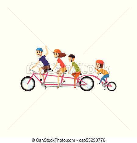 Happy family riding on. Cycling clipart recreation clip art black and white library