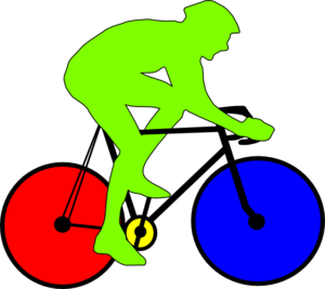 Cycling clipart recreation. Colourful cycle clip art