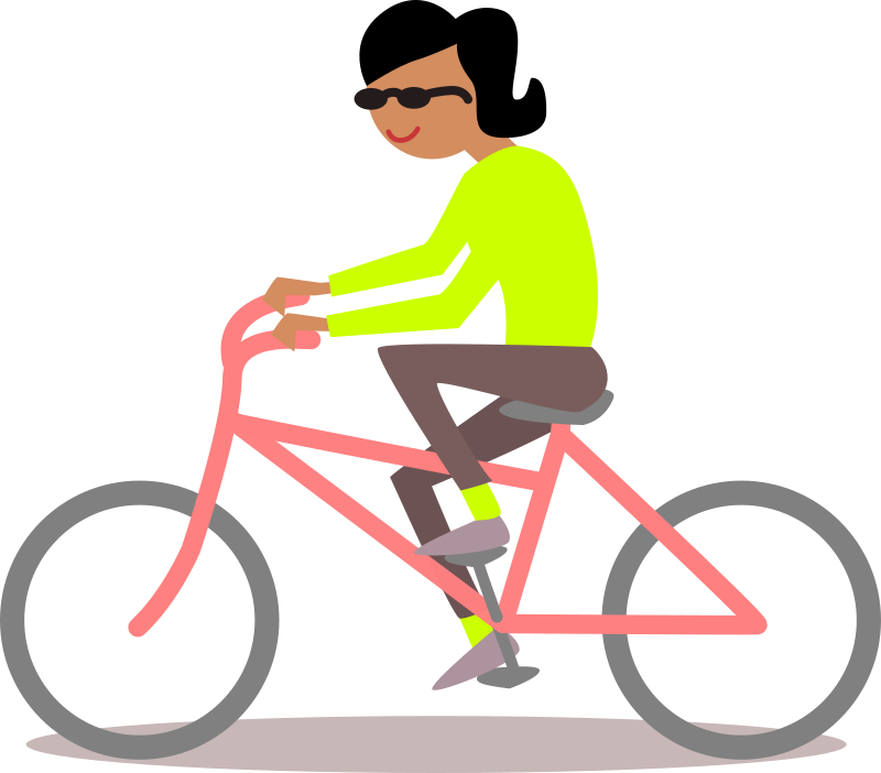 Bike medium image png. Cycling clipart recreation black and white stock