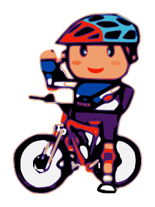 Biker small image png. Cycling clipart recreation clipart black and white stock