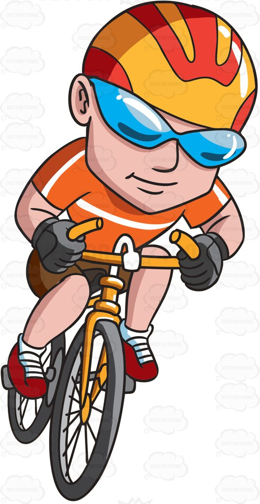 Cycling clipart recreation. A happy man riding clip art transparent download