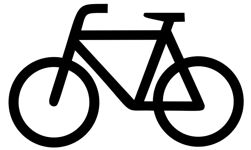 Cycling clipart recreation. Plain bicycle icon large