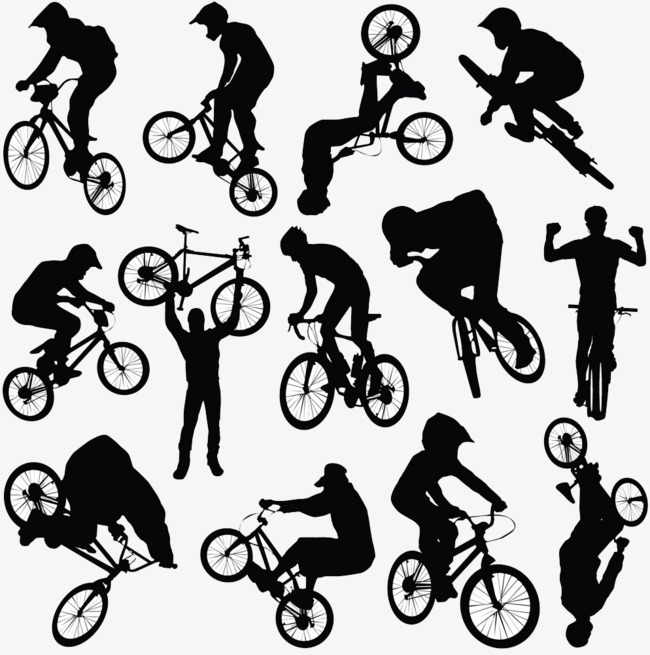 Cycling clipart sport. Silhouette clip art extreme jpg library stock