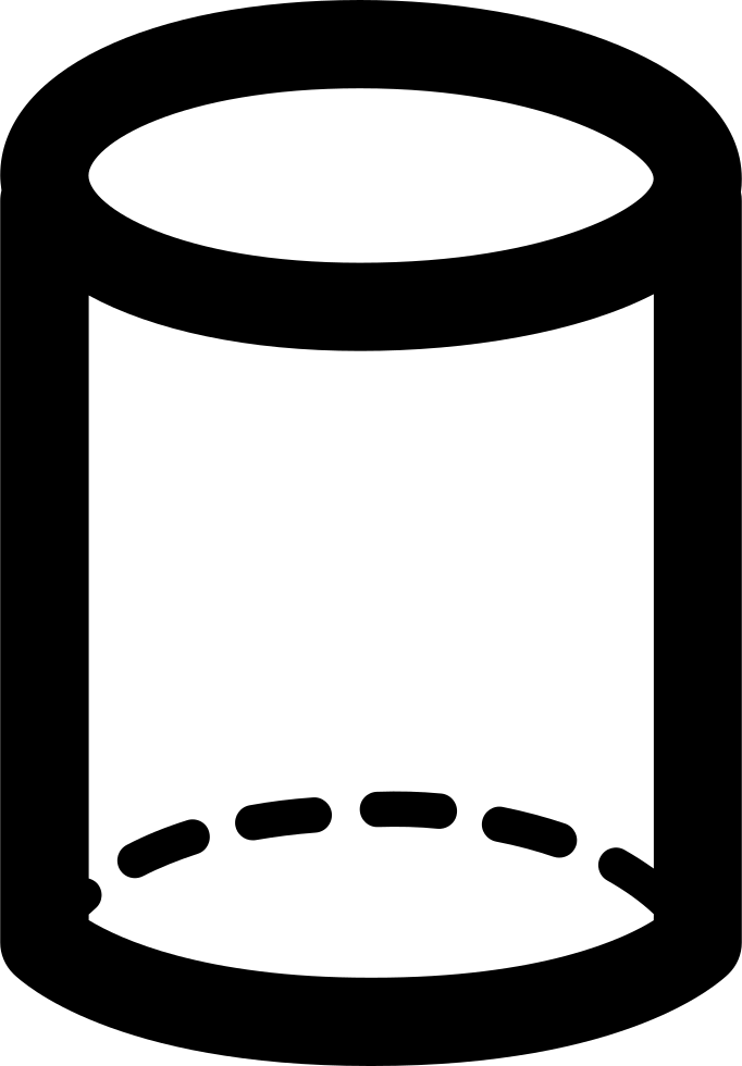 Cylinder shape png. Volumetric svg icon free
