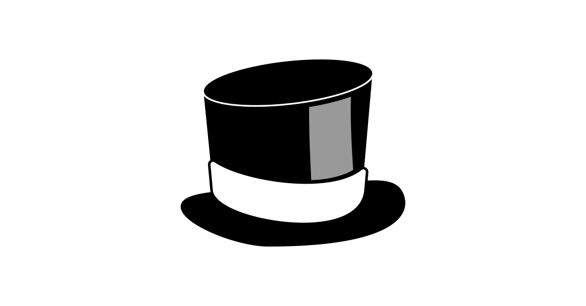 Hat and png free. Cylinder vector clipart black and white