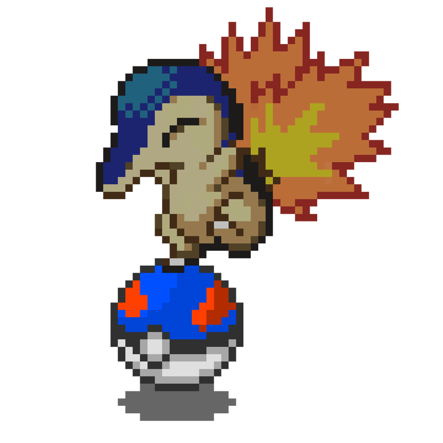 Cyndaquil transparent. By mezzalunaisola on deviantart