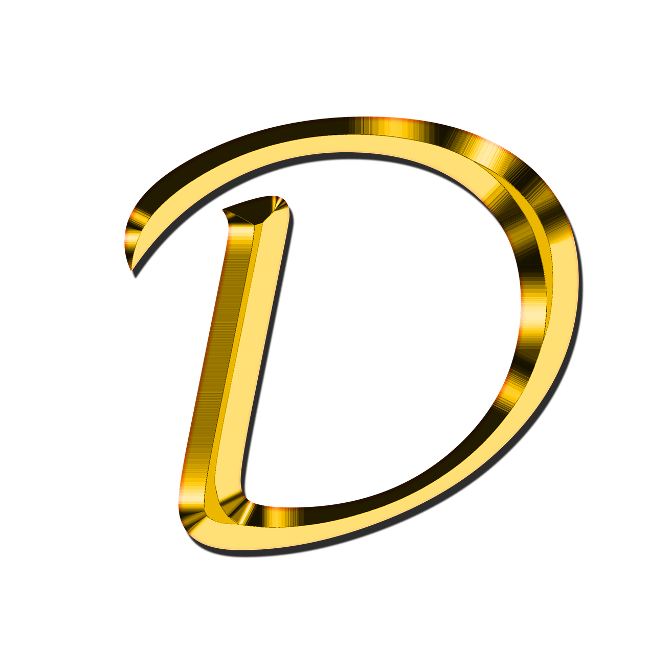 D transparent. Capital letter png stickpng