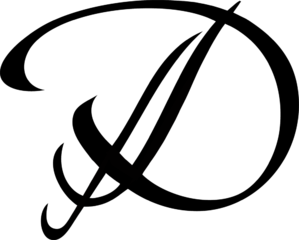 Transparent d calligraphy. File logo png wikimedia