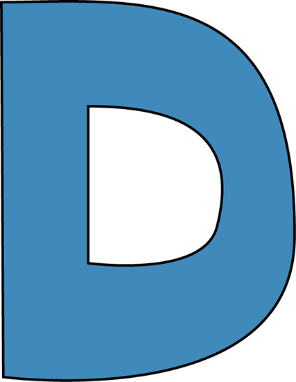 Transparent d colossal. The letter logo by