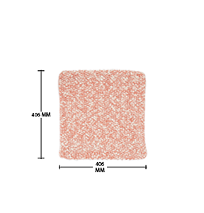 D transparent coral pink. X square cushion covers