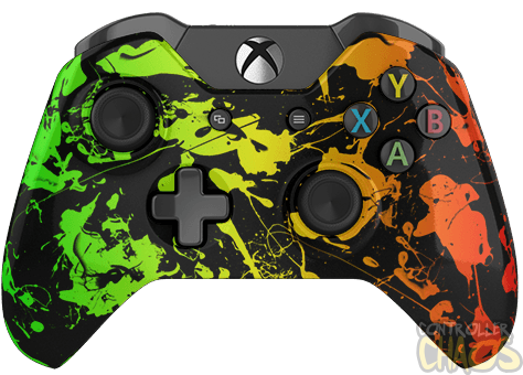 Wii transparent modded. Rasta xbox one controller