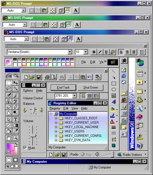 Transparent d windows 98. Image about aesthetic in