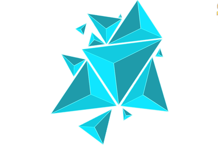 D vector abstract. Geometric shapes k pictures