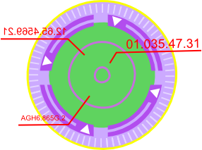 D vector abstract. Digimon ark scanner by