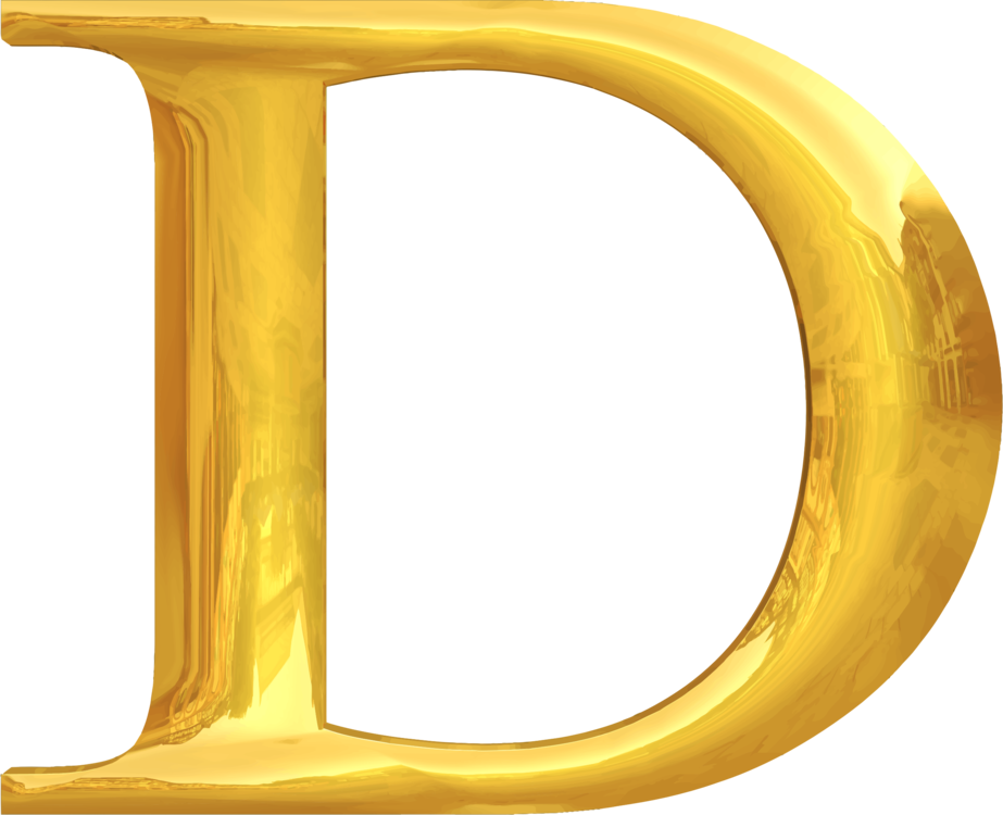 D vector english alphabet. Typography lettering gold free