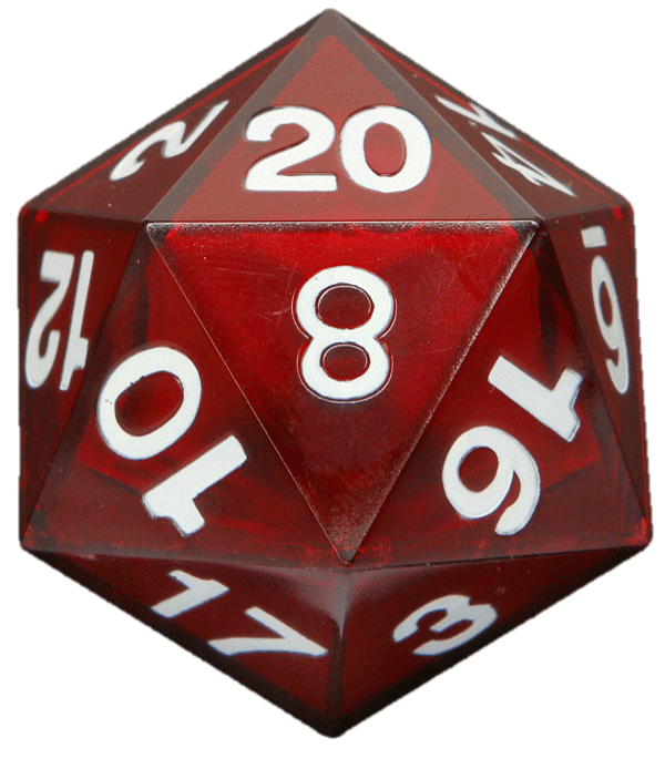 D20 transparent red. Image d png zeldad