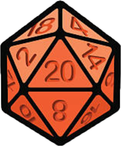 D20 transparent red. D discord emoji