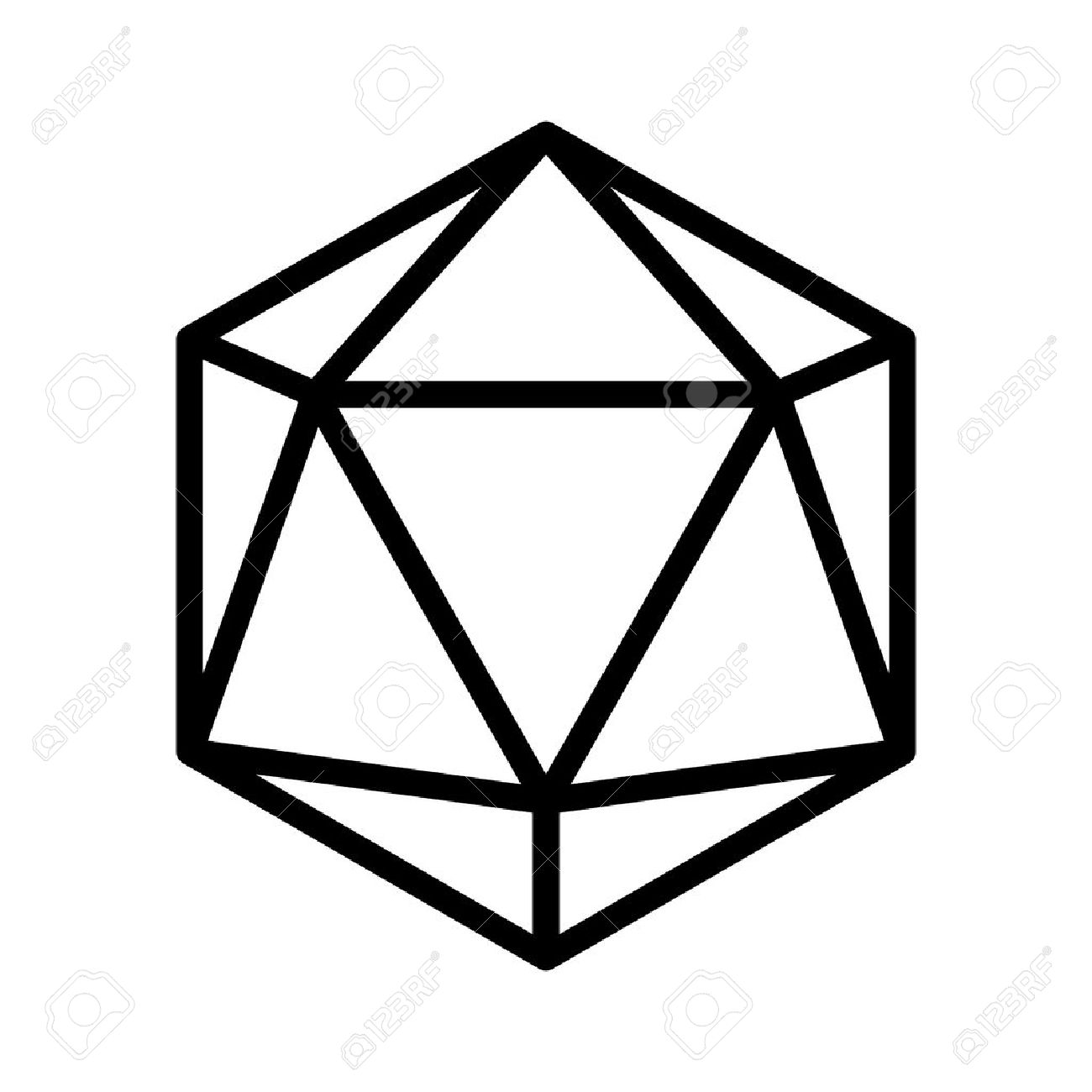 D drawing at getdrawings. D20 clipart clipart black and white download