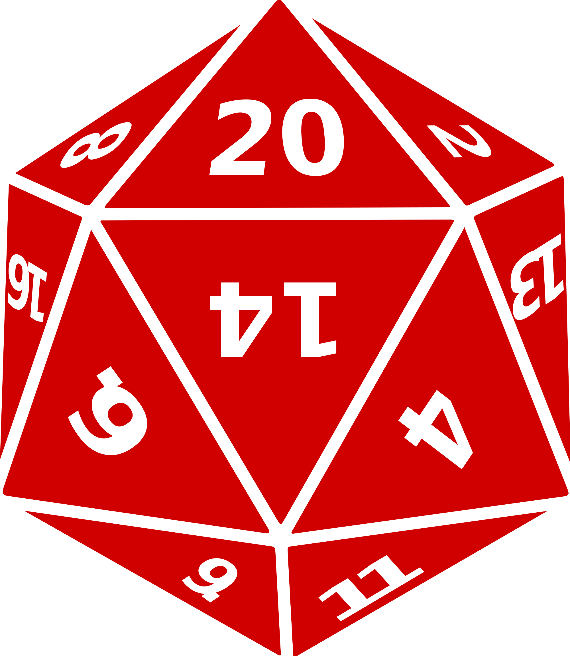 d20 outline png