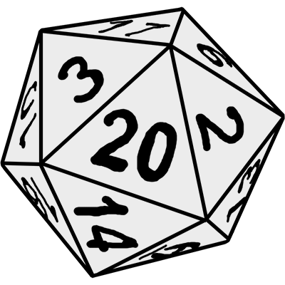 d20 transparent line art