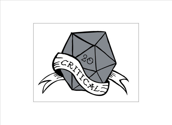 Nerd dungeon hit d. D20 clipart critical jpg black and white download