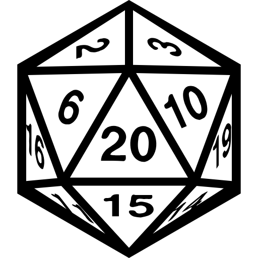 D20 clipart drawn. Becca s crazy projects