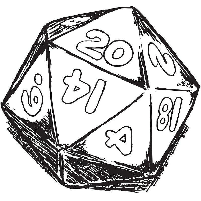 D drawing at getdrawings. D20 clipart drawn vector black and white