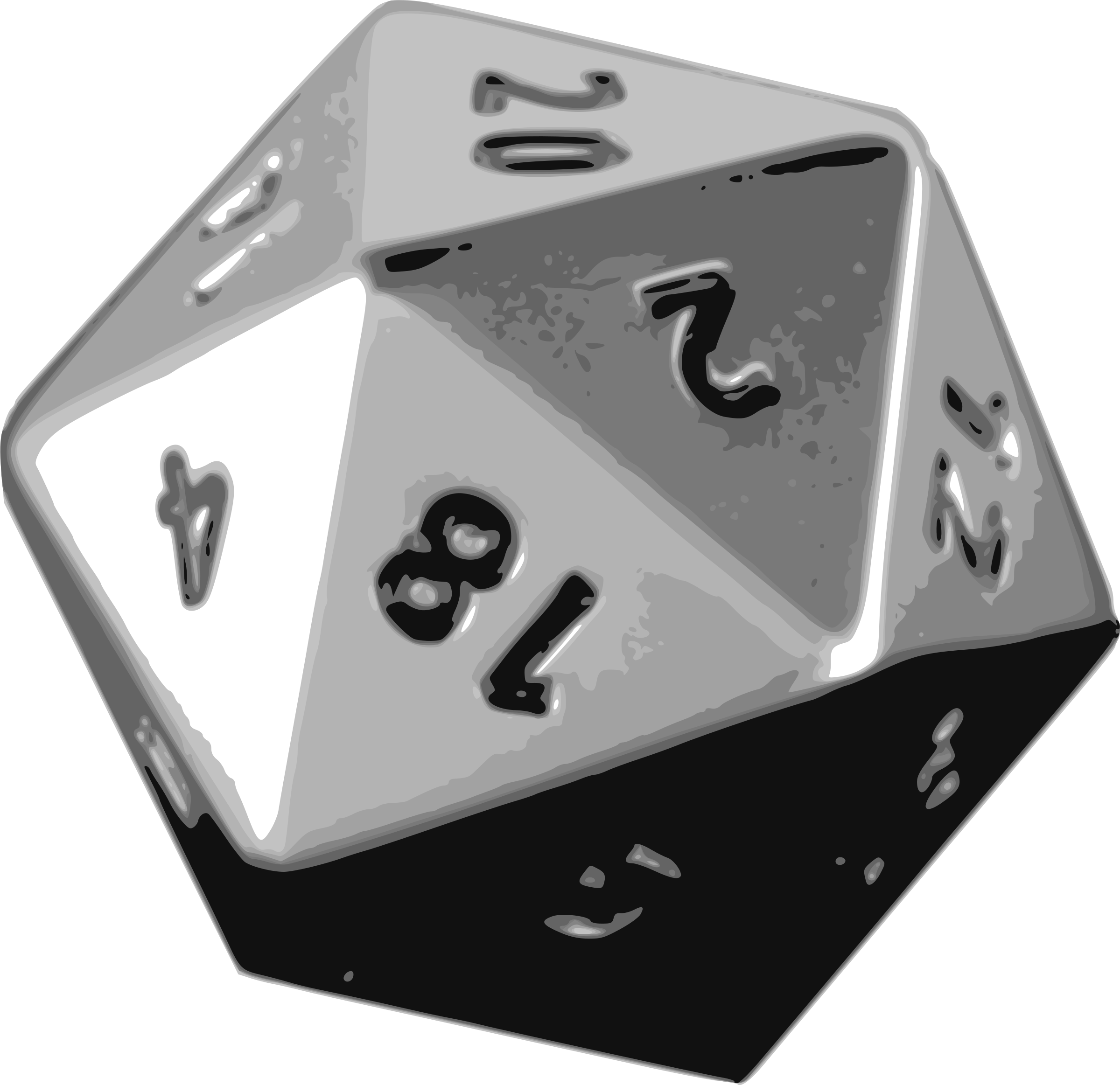 d20 svg black and white