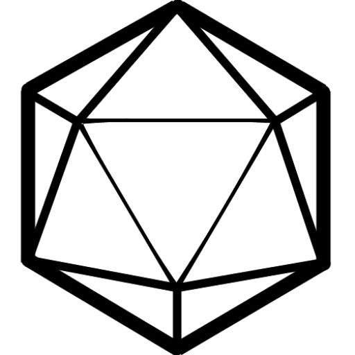 D20 svg black and white. D picture library free