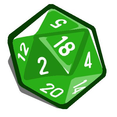 D20 svg green. D dice picture