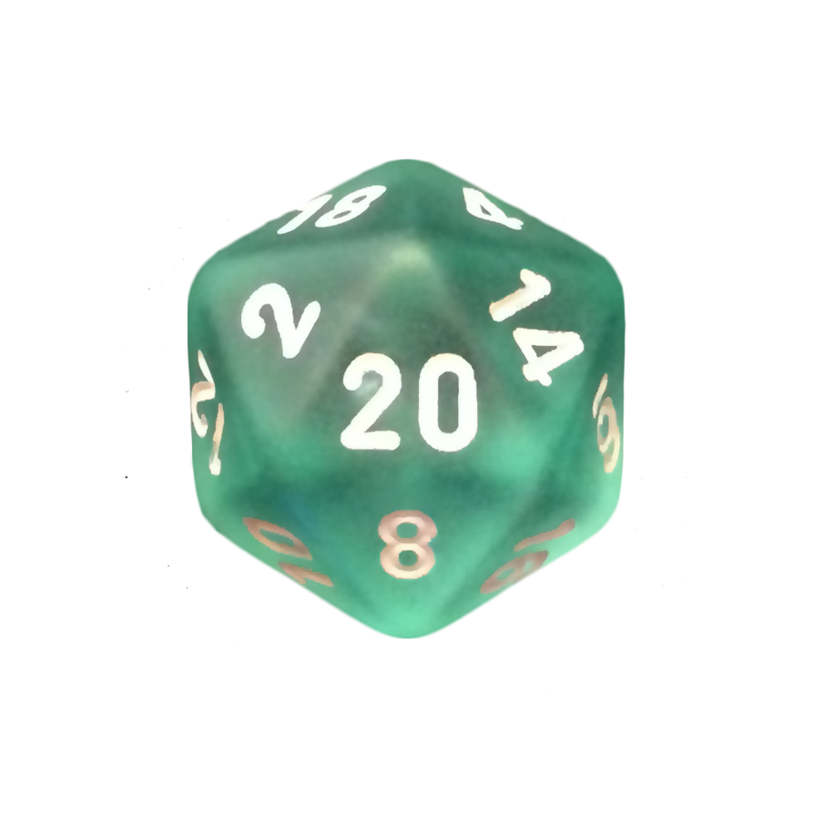 D20 transparent blue. Dice package by magenta